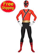 Power Ranger Halloween Costume Halloween Costumes Men Red Power Ranger Samurai Costume