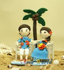 Cake Decorations Beach Theme - 18 best clay wedding cake topper images on pinterest clay dolls
