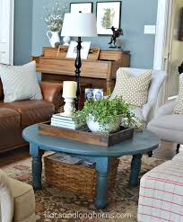 how to decorate a round coffee table sharing my secrets family room pinterest living rooms coffee