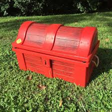 Little Tikes Football Toy Box Vintage 1970s Little Tikes Red Pirate Treasure Chest Toy Box Bin