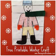 printable fine motor winter crafts for kids