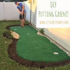 how to make a backyard putting green with real grass backyard