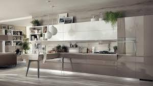 cuisine blanche ouverte sur salon design interieur cuisine ouverte salon taupe blanche design moderne
