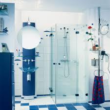 bathroom contemporary design ideas with wall shower full size bathroom futuristic blue acrylic shower stall wall shelves glass beam interiors