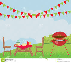 illustration of backyard barbecue scene stock vector image 51633901