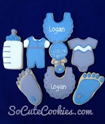 baby shower cookies for logan so cute cookies