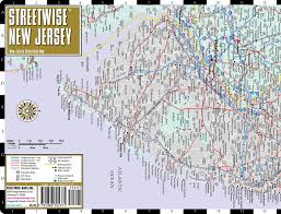 Map Of Wildwood Nj Streetwise New Jersey Map Laminated State Road Map Of New Jersey