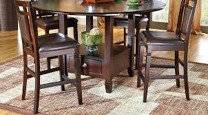 Dining Room Storage Cabinets Counter Height Kitchen Island Dining Table With Storage Base Dark