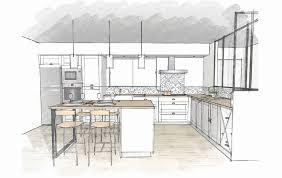 plan cuisine en u beautiful cuisine en u avec fenetre et bar photos design trends avec