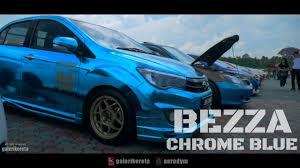 kereta bmw biru perodua bezza chrome youtube