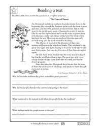 reading comprehension 4th grade 4th grade reading writing worksheets reading comprehension