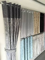 Glitter Window Curtains Luxury Glitter Top Eyelet Curtain Curtains Range Crushed Velvet