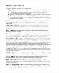 Career Objective Example Resume Sample Resume Objectives For Any Job Any Job Good Career Objective