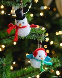 pom pom snowman ornaments lia griffith