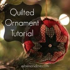 quilted ornaments tutorial ornament