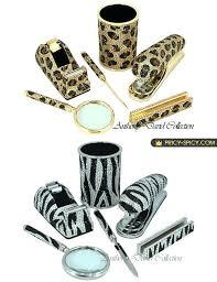 zebra print office supplies animal print desk accessories fashion Zebra Desk Accessories