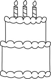 Fascinating Birthday Cake Outline Happy Clering Sheet Coloring Birthday Cake Coloring Pages