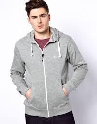 bench hoodie zip through in gray for men lyst