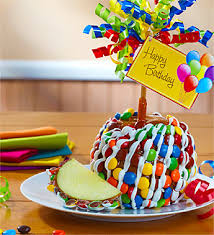 candy for birthdays happy birthday caramel apple with candies