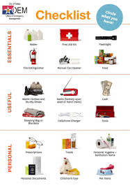 t harger icones bureau office of emergency management a disaster kit