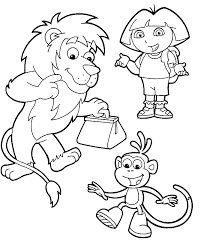 printable dora coloring pages kids coloring