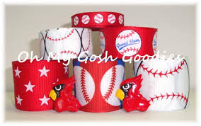 baseball ribbon baseball grosgrain ribbon ribbon st louis cardinals baseball