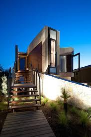 modern beach house with curved window wall tikspor