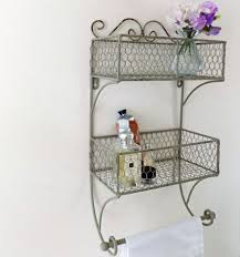 Vintage Bathroom Accessories Bowley U0026 Jackson Vintage Bathroom Wire Double Basket Wall Mounted