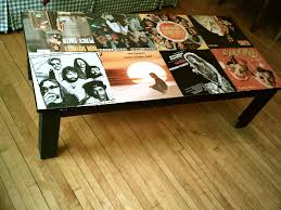 i mod podged my coffee table with old record covers diy u0026 crafts