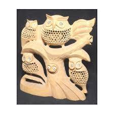 wooden owl sculpture kuber n craft manufacturer in kanta