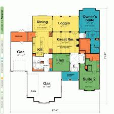 house plans with two master suites design basics http www gunnison 50016 french country home plan at design basics