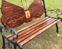 Butterfly Bench Personalized Bench Etsy