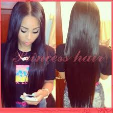 long black hair with part in the middle smooth long silk straight black hair middle part glueless full lace