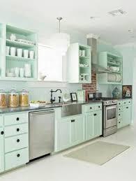 Turquoise Cabinets Kitchen Subway Tile Backsplash Turquoise Cabinets Subway Tile
