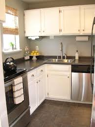 White Kitchen Cabinets With Grey Countertops by White Kitchen Cabinets Black Granite Countertops White Kitchens