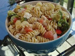 spiral pasta salad with feta and balsamic vinigarette cat can cook