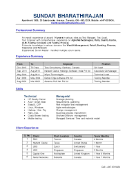 Testing Resumes 7 Years Experience Test Manager Resume