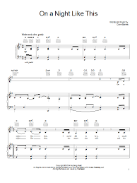 God Gave Me You Chords Dave Barnes On A Night Like This Sheet Music Direct