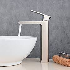 greenspring tall waterfall spout single handle bathroom sink
