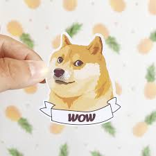 Shiba Inus Meme - doge wow sticker shiba inu gift for dog lovers meme gifts