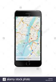 Map Showing New York by Apple Iphone 7 Plus With Apple Maps Gps Navigation Map Showing