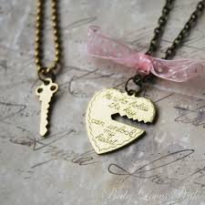 couple necklace key images Key to my heart heart and key brass couple 39 s jpg