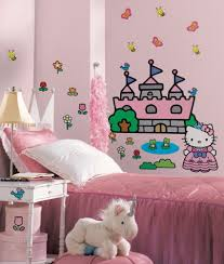 sticker wall hello kitty princess castle giant wall mural 31 stickers trees room download