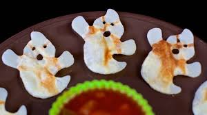 halloween ghost potato crisps easy diy vegan treats youtube