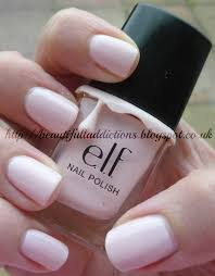 White Pink Nail Beautiful Addictions Notd E L F Fair Pink Nail