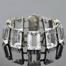 crystal link bracelet images Vintage japanese sterling rock quartz crystal link bracelet a jpg