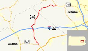 Map Of Berks County Pa Pennsylvania Route 143 Wikipedia