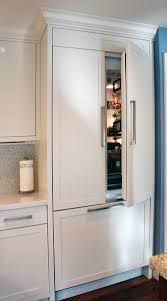 Built In Kitchen Cabinets Painted Built In Refrigerator Panels Kitchen Cabinets Fridge