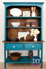 The Styling Hutch Restyled Vintage Farmhouse Hutch Dresser In Duck Egg And Old