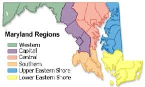 maryland map capital maryland d